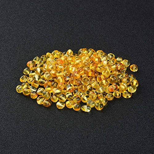 Beads - Baltic Amber Beads 5-6mm Width Pre-Drilled Holes for Stringing Jewelry-Bulk DIY Supplies for Making Teething Necklace - by LuckyNecklaces - 1 PCs