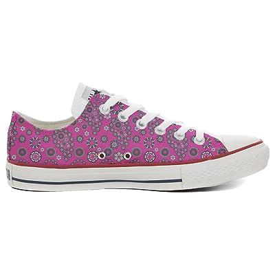 mys Converse All Star Slim chaussures coutume mixte adulte (produit artisanalPersonnalisé) Hot Pink Paysley