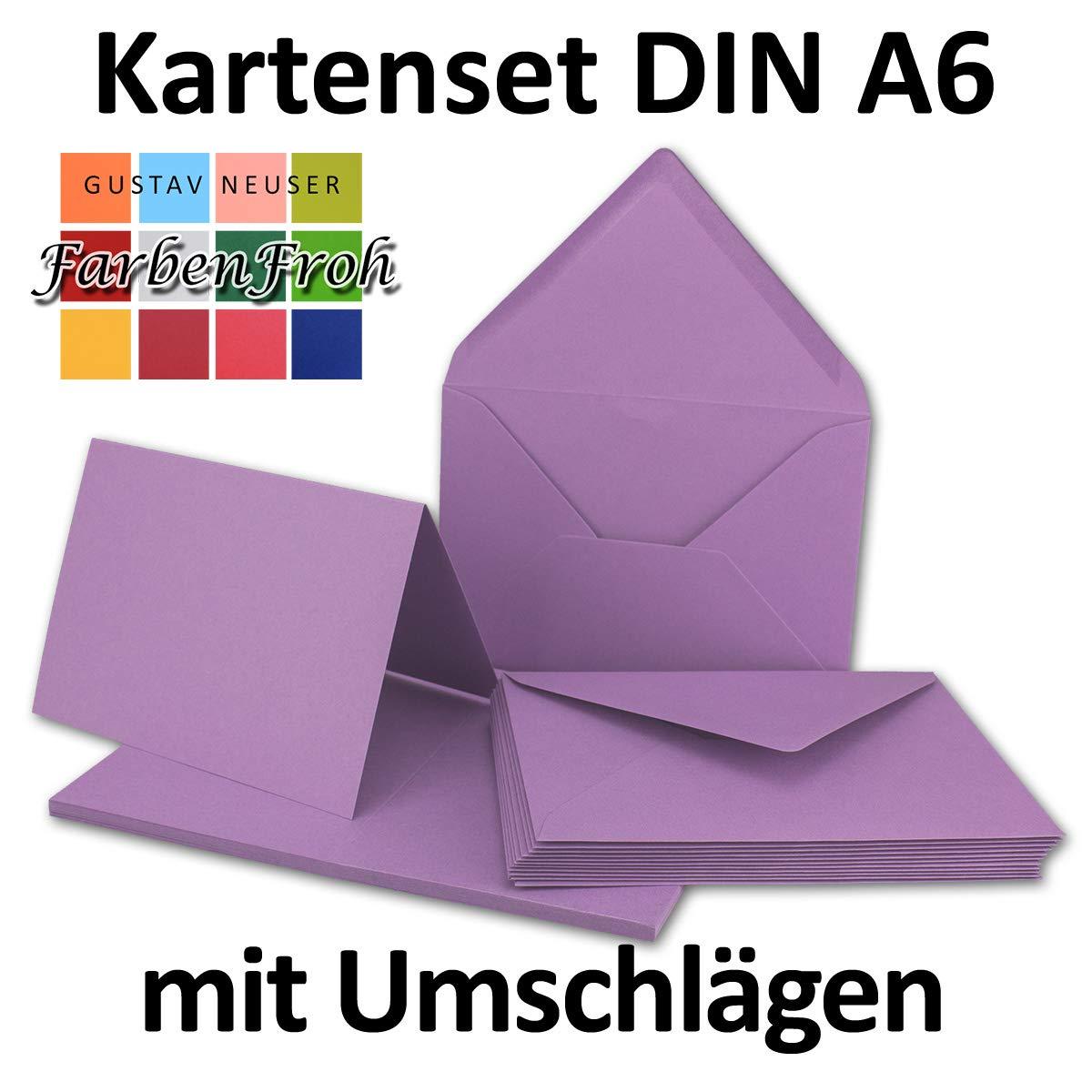 Faltkarten Set Set Set mit Brief-Umschlägen DIN A6   C6 in Rosanrot   100 Sets   14,8 x 10,5 cm   Premium Qualität   Serie FarbenFroh® B07657CZ6C | Jeder beschriebene Artikel ist verfügbar  5fd1cb