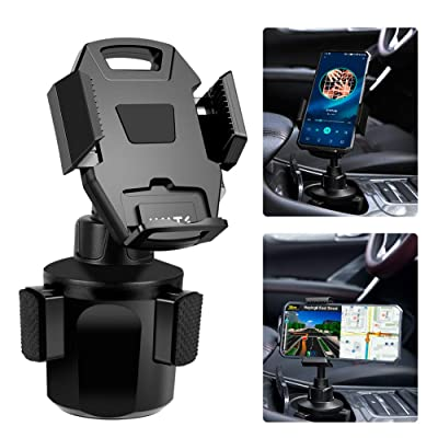 Car Cup Holder Mount, IKITS Universal Car Phone Holder for Car Adjustable Smartphone Vehicle Cup Holder Cradle Compatible iPhone 11R Pro 11 XR MAX XS 8, Galaxy S10+ S10e S9 S8 A8 A6 J4, LG,Nexus,Moto