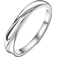Yoursfs 925シルバー 指輪 メンズ おしゃれ 925 純銀製指輪 オープン 婚約指輪 調節可能 フリーサイズ リング プレゼント