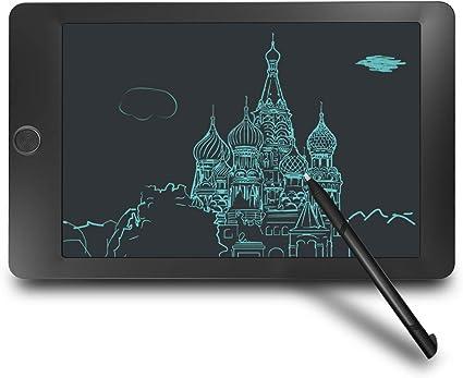 Yasolote Tableta Gráfica para Escritura de LCD 8 5 10 12 Pulgadas de Dibujo electrónico y Escritura para niños La Pantalla no brillará 8 5
