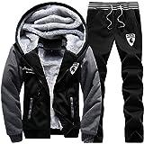 Luckyoung Men Winter Full Zip Fleece Hoodie Jacket & Pants Sweatsuit Casual Tracksuit