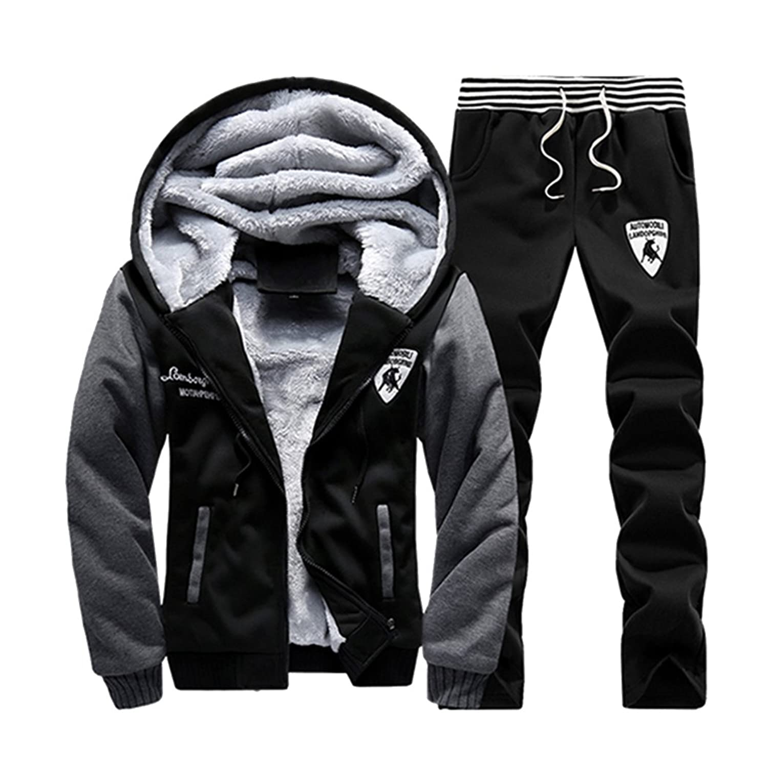 Mens Warm Fit Jogging Sweat Suits Casual Tracksuits + Pants at ...