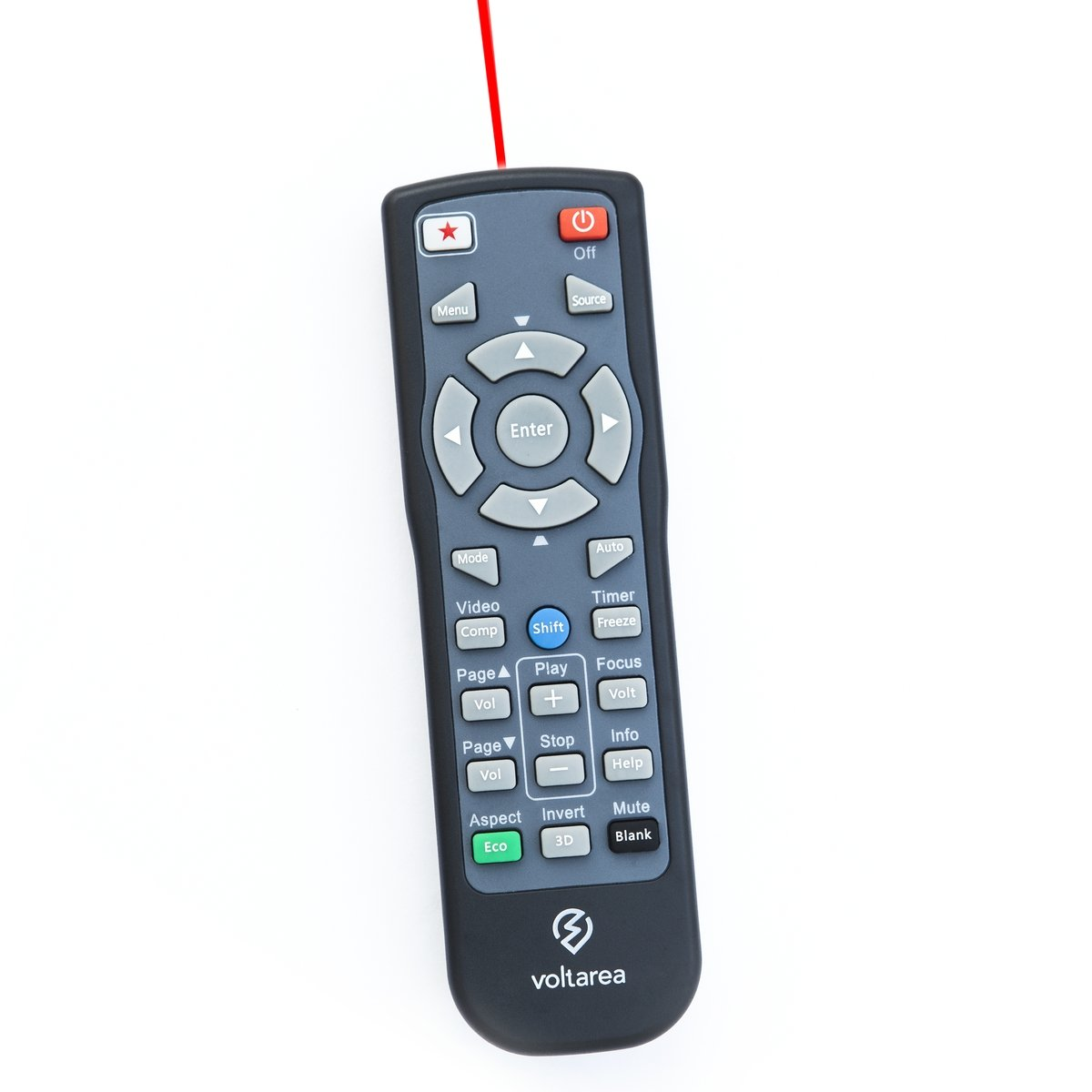 Remote Control for Vivitek D857WT D859 D862 D863 D865W D867 D871ST Projector with Laser Pointer by Voltarea