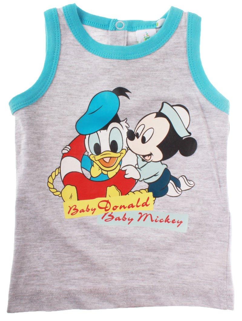 Canotta da bebè Baby Baby Topolino e Paperino da 12 a 30 mesi Bleu/gris 30mois Mickey