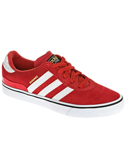big sale e501b 83f91 adidas Originals Mens Busenitz Vulc Red, White and Black Suede  Skateboarding Shoes - 9 UK Buy Online at Low Prices in India - Amazon.in