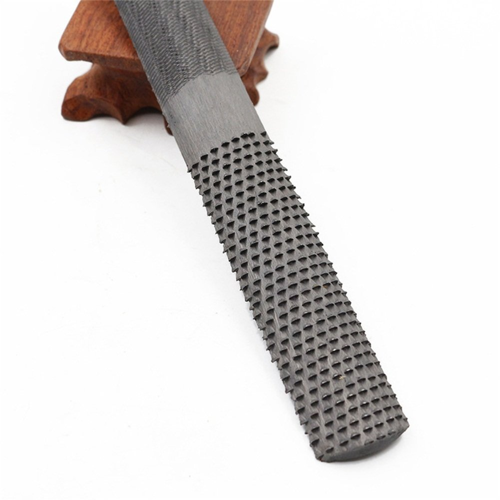 4 Way Rasp File 200mm 8Inch DIY Multifunctional Carbon Steel Carpentry Woodworking Files Wood Rasp Hand Files With Black Oxford Storage Bag Best for Cabinetmaker Carpenter Repairment HCD01-US Hersent