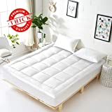 Vonabem Queen Mattress Topper Extra Thick Mattress Pad Cooling Cotton Mattress Cover Pillow Top Mattress Protector Hotel…