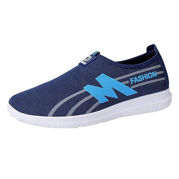 Zapatos Hombre Mocasines Calzado Plano-ZARLLE Mocasines para Hombre Mocasines para Caminar Zapatos Slacker de Ocio de los Hombres de Verano Zapatos de ...