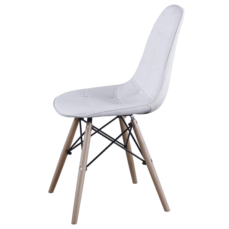 IDIMEX Esszimerstuhl Design Retro Stuhl Polsterstuhl 4er Set CESAR ...
