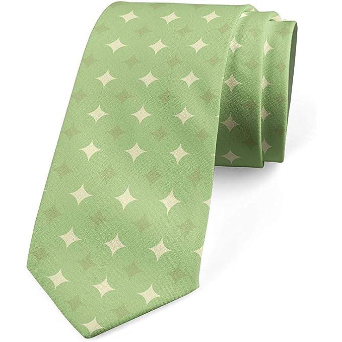 Corbata, motivo moderno simétrico, cáscara de huevo verde pistacho ...