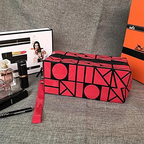 Aoligei Foudre géométrie losange Pack grande capacité Portable sac cosmétique pliage sac G