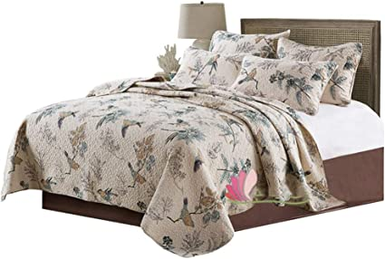Yffs Down Duvet Cover Cotton Bird Print And Pillowcase Bedding Three Piece Cotton Bed Cover Fresh And Breathable Suitable For Bedroom A Amazon Co Uk Kitchen Home