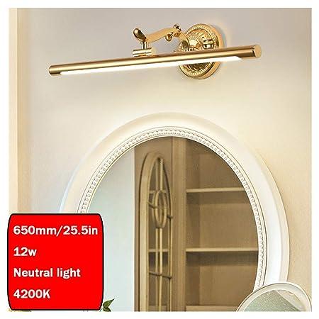 Specchio Bagno Bianco.Wmgvg Applique Da Bagno Led Lampada Specchio Bagno Interno Moderno