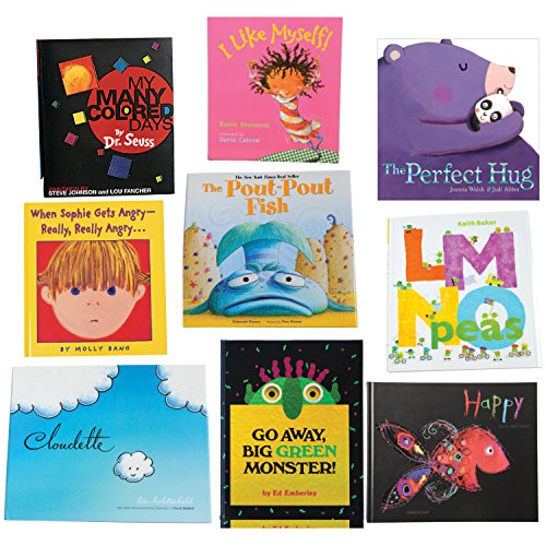 Constructive Playthings BOK-110 Feelings and Emotions Storybooks, Hardcover, Grade: Kindergarten to 1, Set of 9 by Constructive Playthings