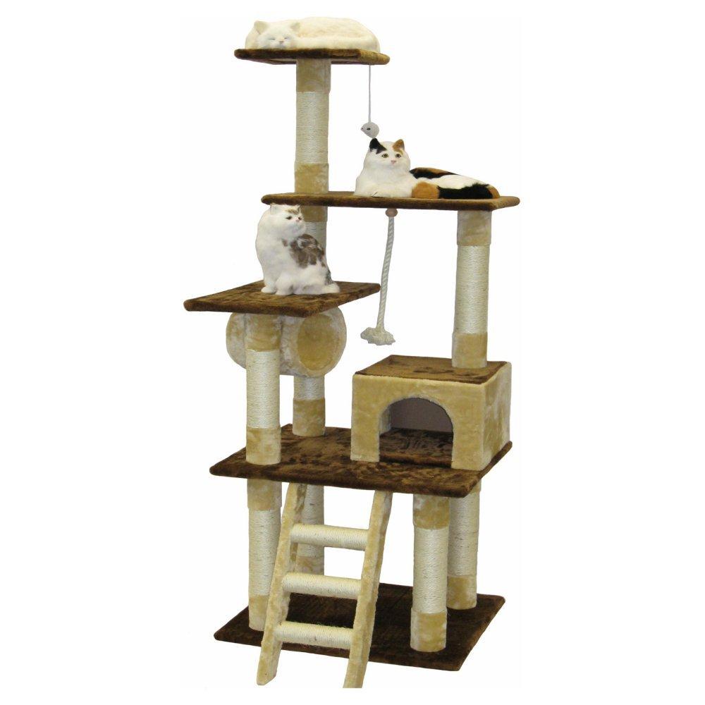 Go Pet Club Cat Tree Furniture Condo, 67-Inch