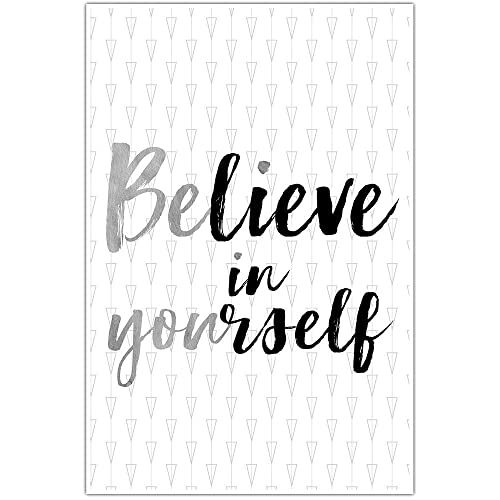 Amazon Com Believe In Yourself Wall Art Poster Multiple Color Handmade
