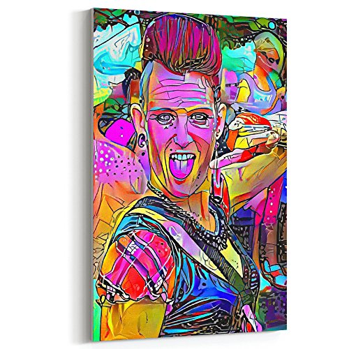 Westlake Art - Canvas Print Wall Art - Punk Music on Canvas Stretched Gallery Wrap. Ready to Hang - 12x18 inch ( 18d67 - Best Faces For Thin Hairstyles
