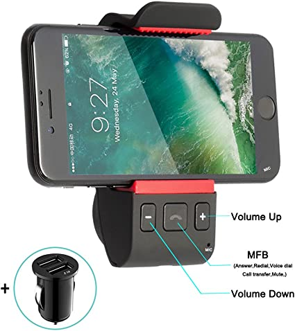 Hands Bluetooth Car Kits Free Kit Cell Phone Holder,Bluetooth Audio black