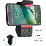 Bluetooth Car Kits, Wireless Car Audio Speakerphone,Adapter,Hands free Bluetooth Car Mount Phone Charger Holder for iPhone X 8 7 Plus 6 s Plus Galaxy S8 Edge S7 S6 Note 8 5 4 3 Nexus More (Black)