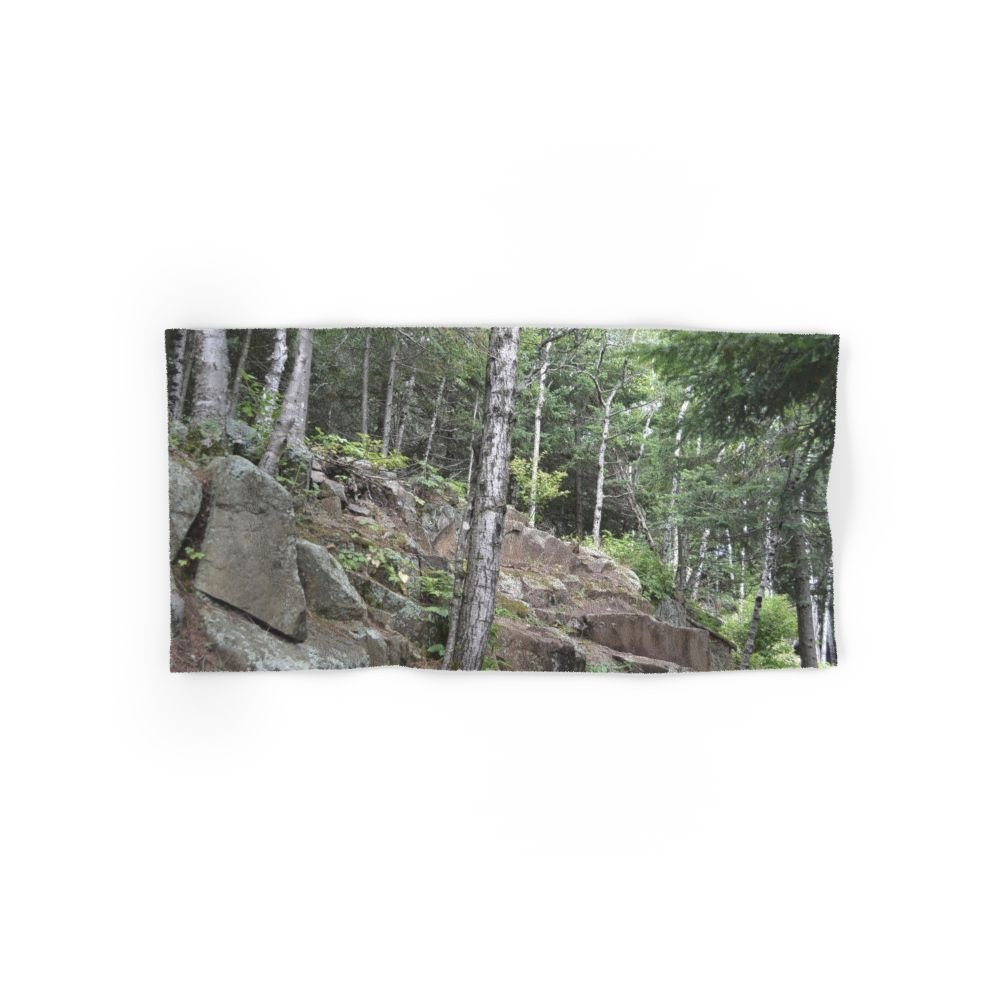 Society6 Rocky Forest Hand Towel 30''x15''