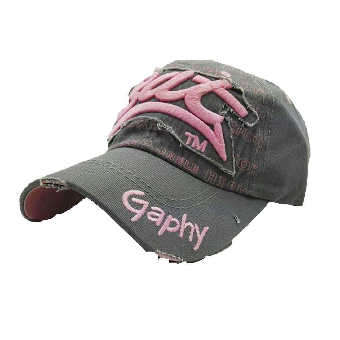 Embroidered Summer Cap Hats for Men Women Casual Hats Hip Hop Baseball Caps Black