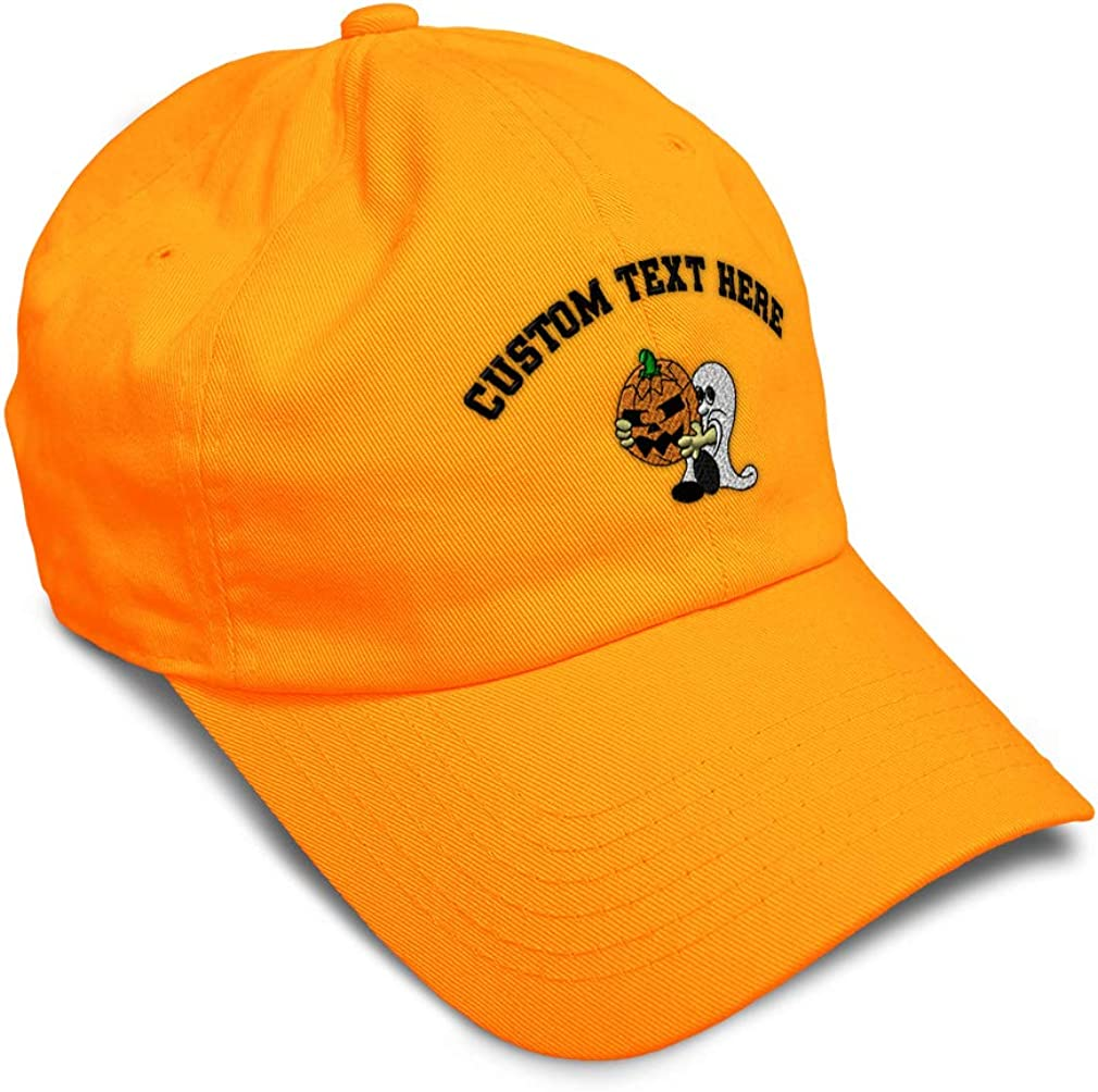 Custom Soft Baseball Cap Ghost Crying Pumpkin Embroidery Twill Cotton