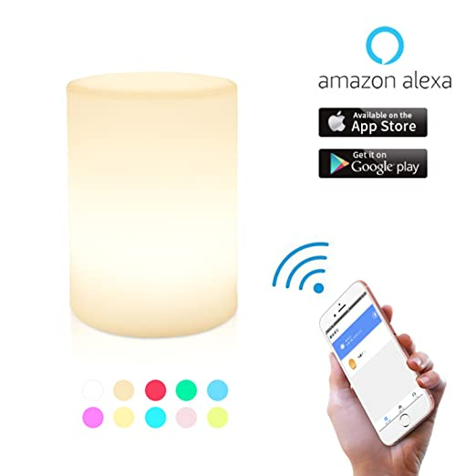 Augrous WIFI Smart Night Light LED Dimmable Touch Sensor Ambient