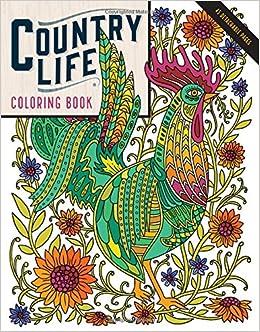 Amazon Country Life Coloring Book 9781612128849 Caitlin Keegan Books