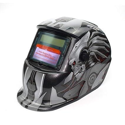 Solar Powered Auto Oscurecimiento TIG MIG MMA Soldadura Eléctrica Máscara Casco Soldador Casquillo Lente Para Máquina