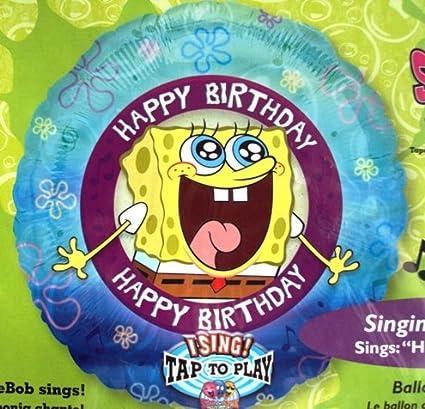 Amazon.com: Bob Esponja cantando Globo de cumpleaños ...