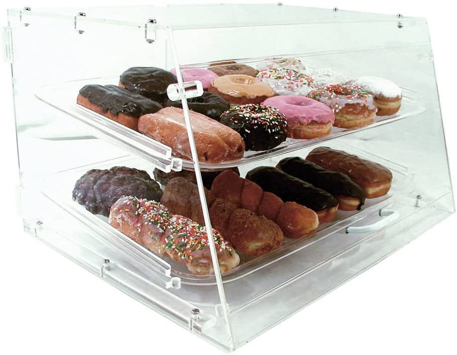 COMMERCIAL ACRYLIC BAKERY PASTRY 2 TRAY DISPLAY CASE by Update International