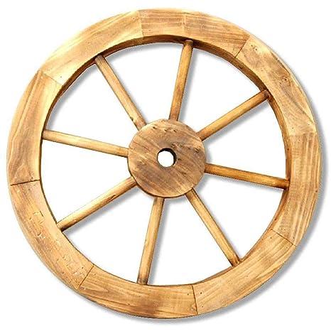 Rueda decorativa de carro de madera diámetro 40 cm