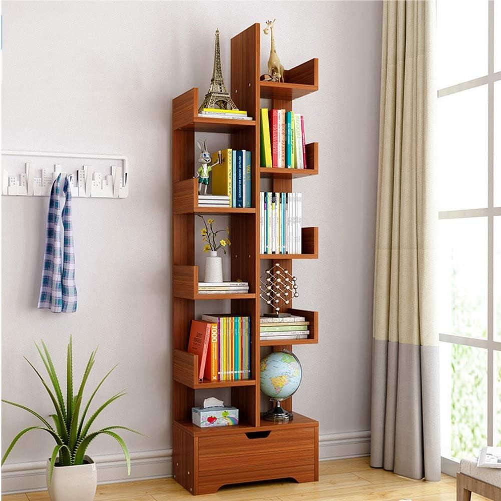 EFGS Wooden Bookcase, Cube Display Shelf and Room Divider, 8 Tier Bookshelf, Freestanding Storage Shelving Unit,2