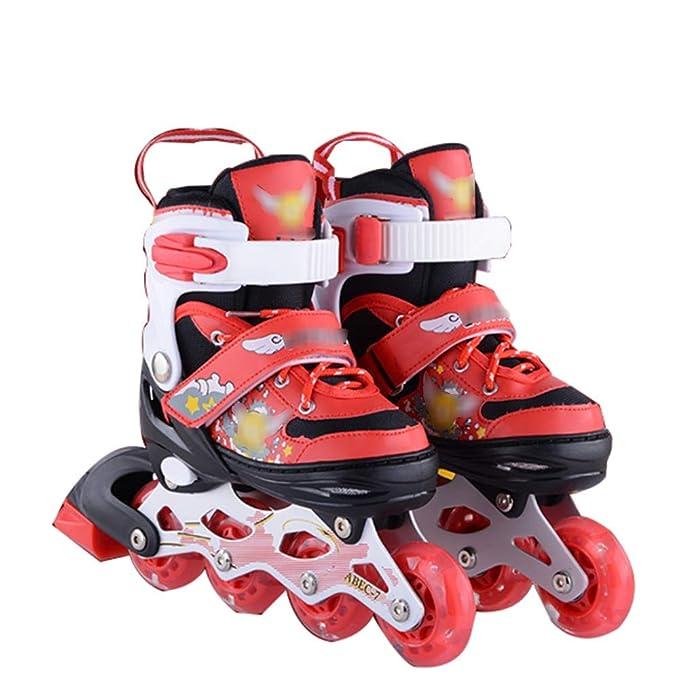 Patines En Línea Flash Shoe Skate Niños Patines Adultos Patines Patines En Línea Patines,Red-M: Amazon.es: Hogar