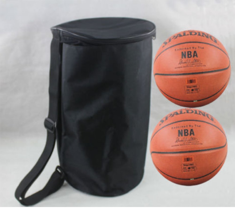 Volleyball Football Soccer Basketball Sport Waterproof Bag Backpack For 2 Ball (Black)