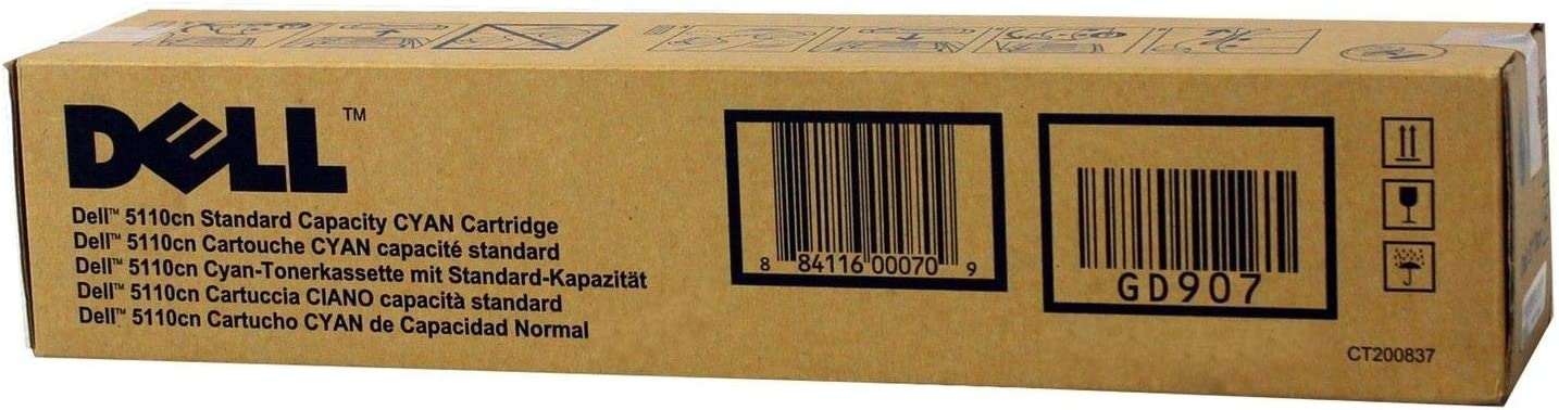 Dell GD907 OEM Toner - 5110CN Cyan Toner (OEM# 310-7892) (8000 Yield) OEM