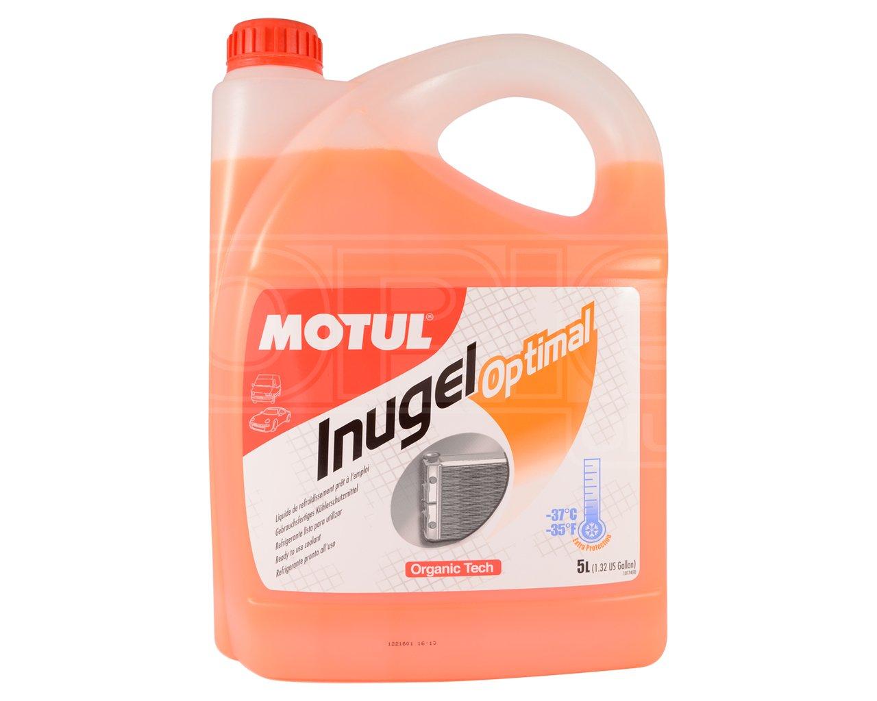 Motul Inugel Optimal Car Antifreeze / Coolant - Ready To Use - 5 Litres
