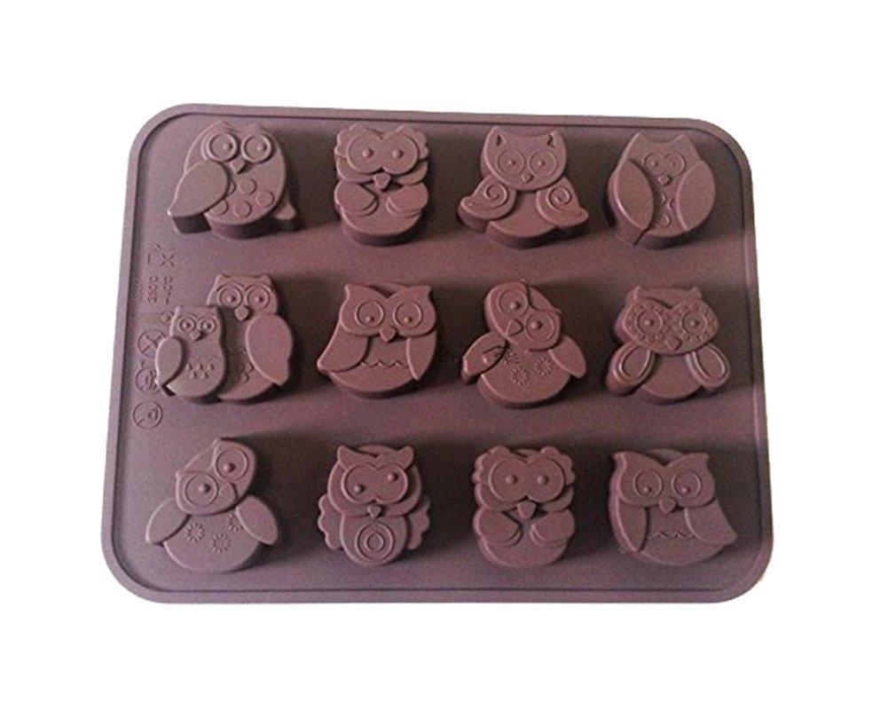 12 Owls Silicone Cake Decorating Sweets /Cookies /Chocolates /Soap Sponge Tin L-FENG-UK BHBUKALIAINH1112