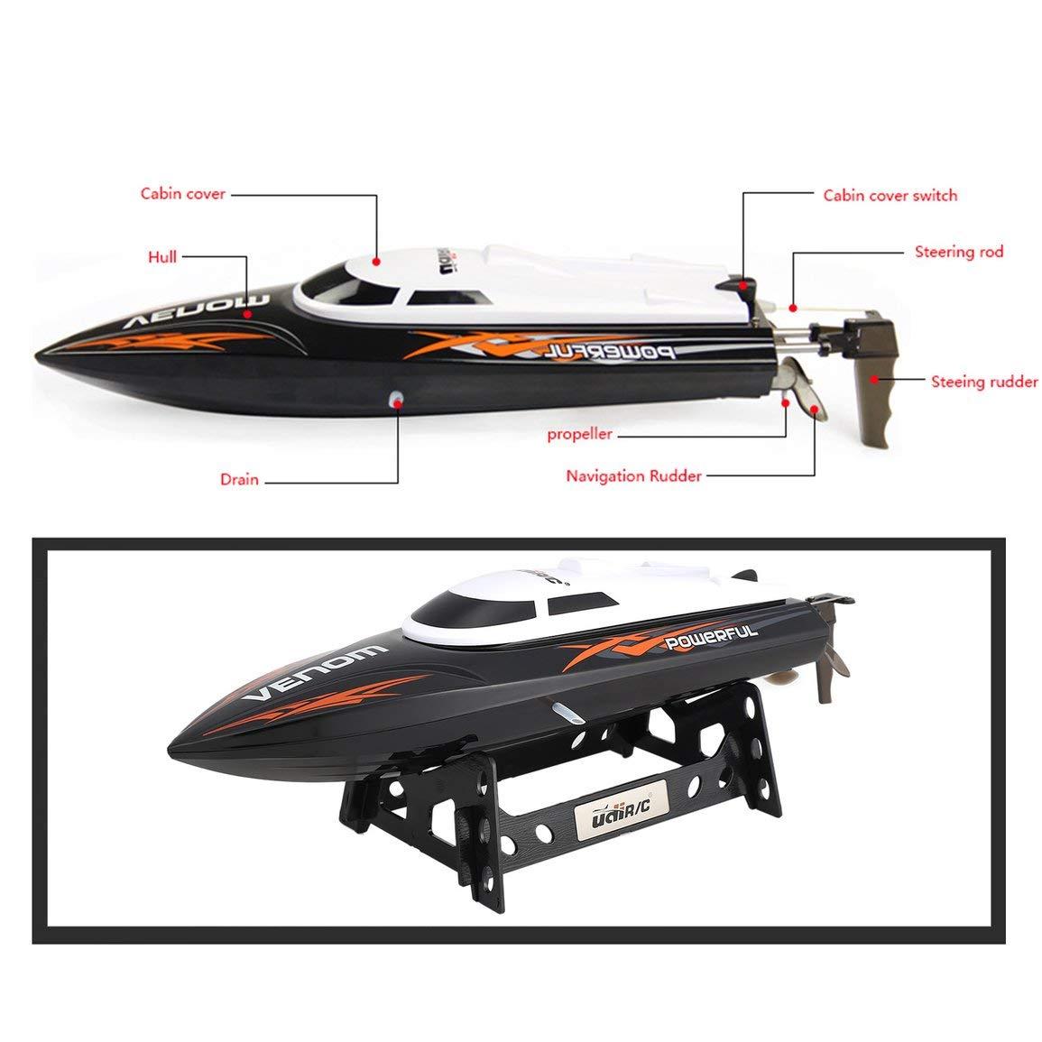 Fantasyworld UDI001 20 kmh 2.4G Cepillado de Alta Velocidad Velocidad Velocidad Remoto RC Racing Barco de Control lancha raacute;pida de la Nave con Agua de refrigeracioacute;n Sistema de Auto-enderezamiento d80c0d