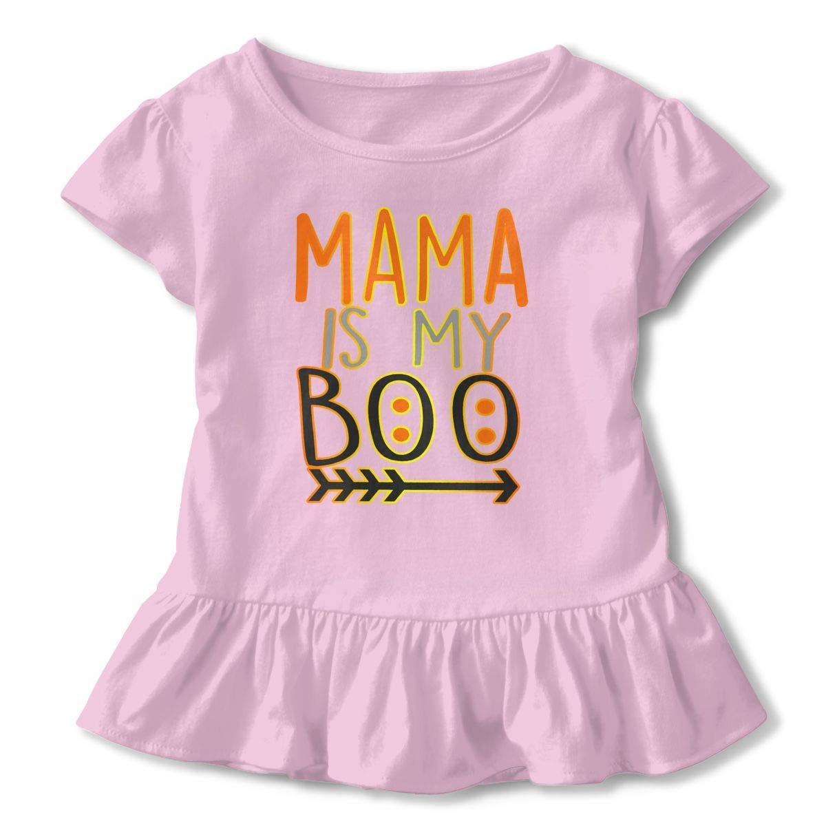 NMDJC CCQ Mama is My Boo Baby Skirts Adorable Kids T Shirt Dress Comfortable Flounces Layette