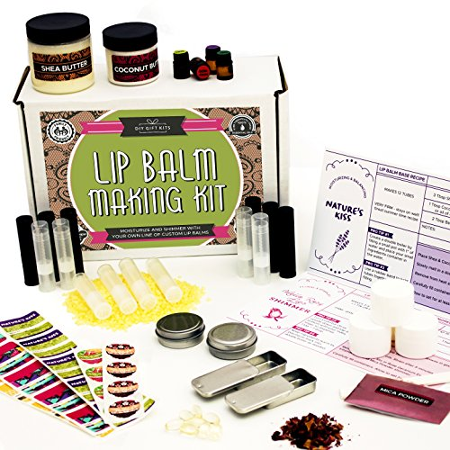 DIY Lip Balm Kit, Filling Tray Included! - (73-Piece Set) (Complete Lip Kit)