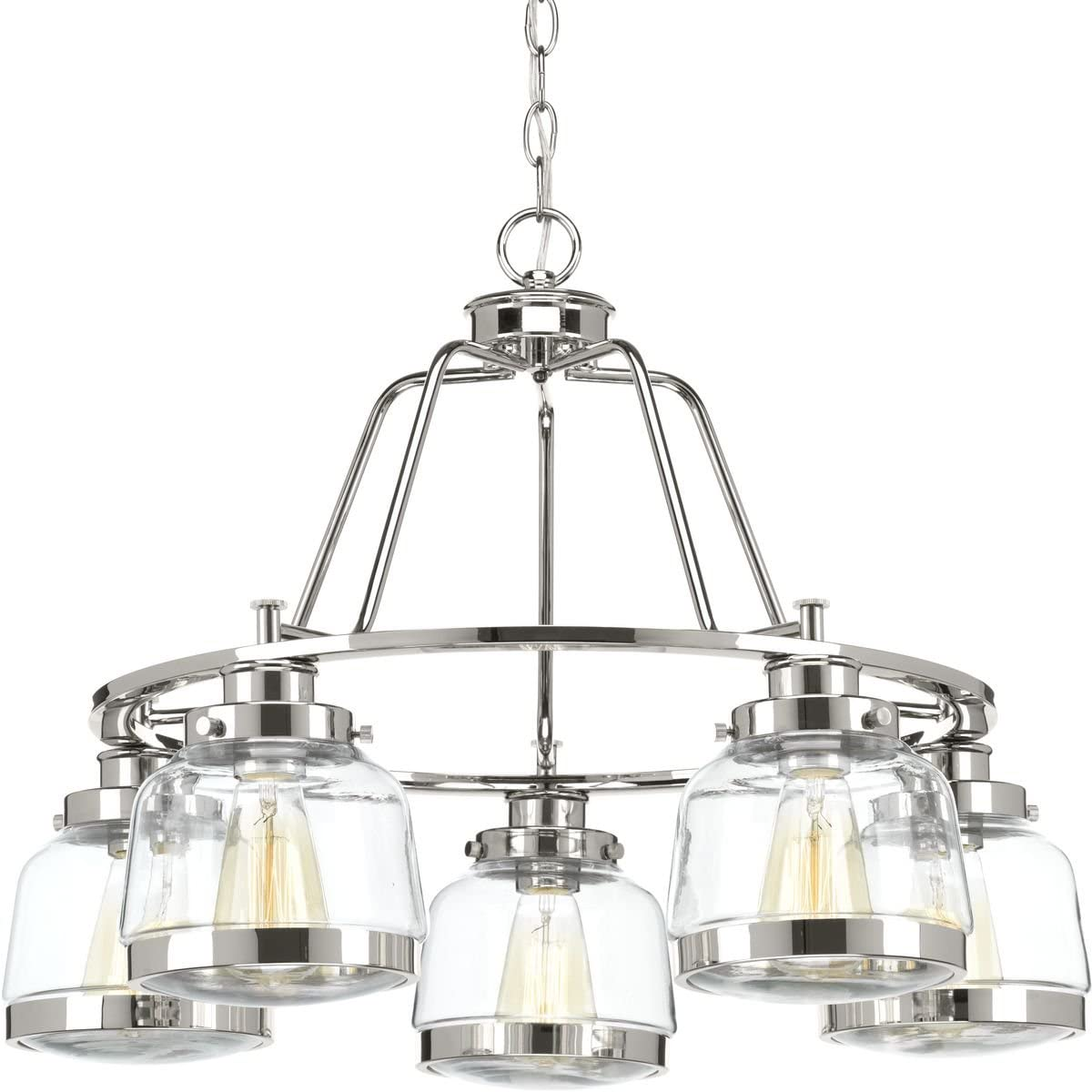 Progress Lighting P400058-104 Judson Chandeliers, Polished Nickel
