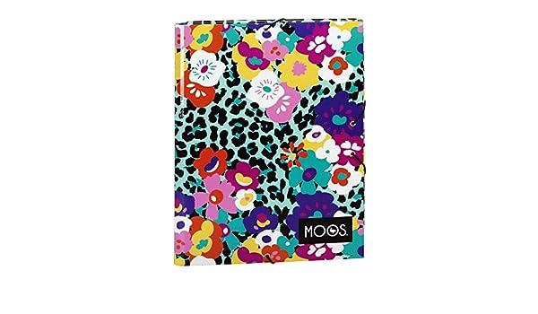 MOOS Carpeta folio, con solapas y gomas, diseño Animal-Flower (Safta 511518068): Amazon.es: Juguetes y juegos
