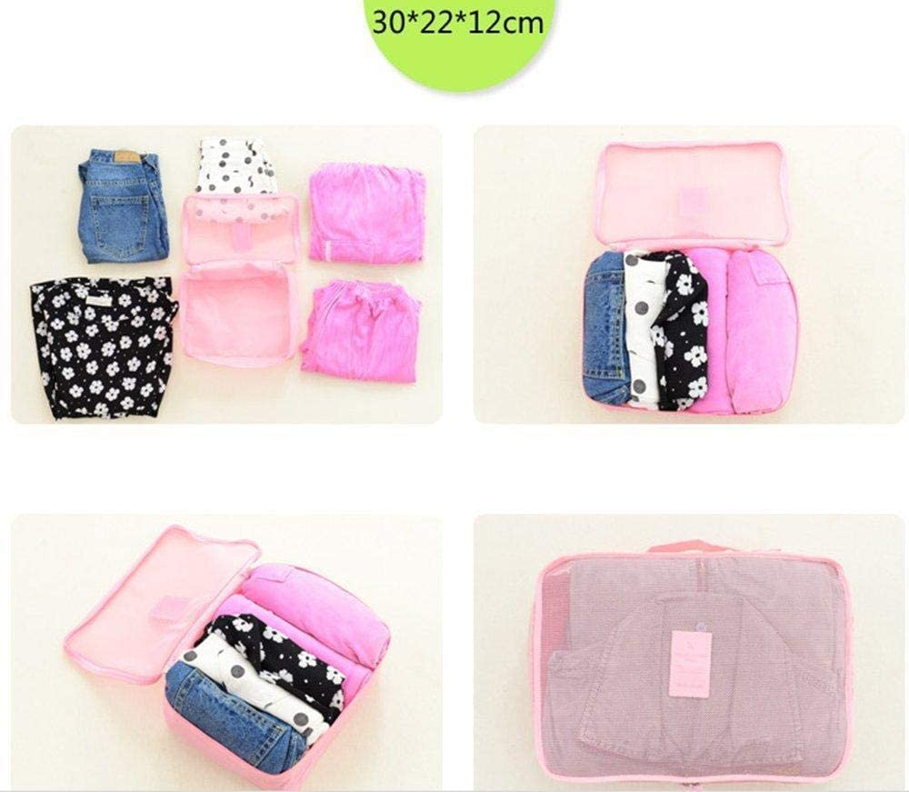 3 Pouches Dark Blue Wicemoon 6 Set Travel Organizer Waterproof Packing Cubes Luggage Compression Pouches 3 Travel Cubes