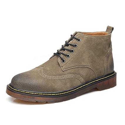 YAJIE-boots, Botas de Tobillo para Hombre, Botines de Trabajo Estilo Vintage y