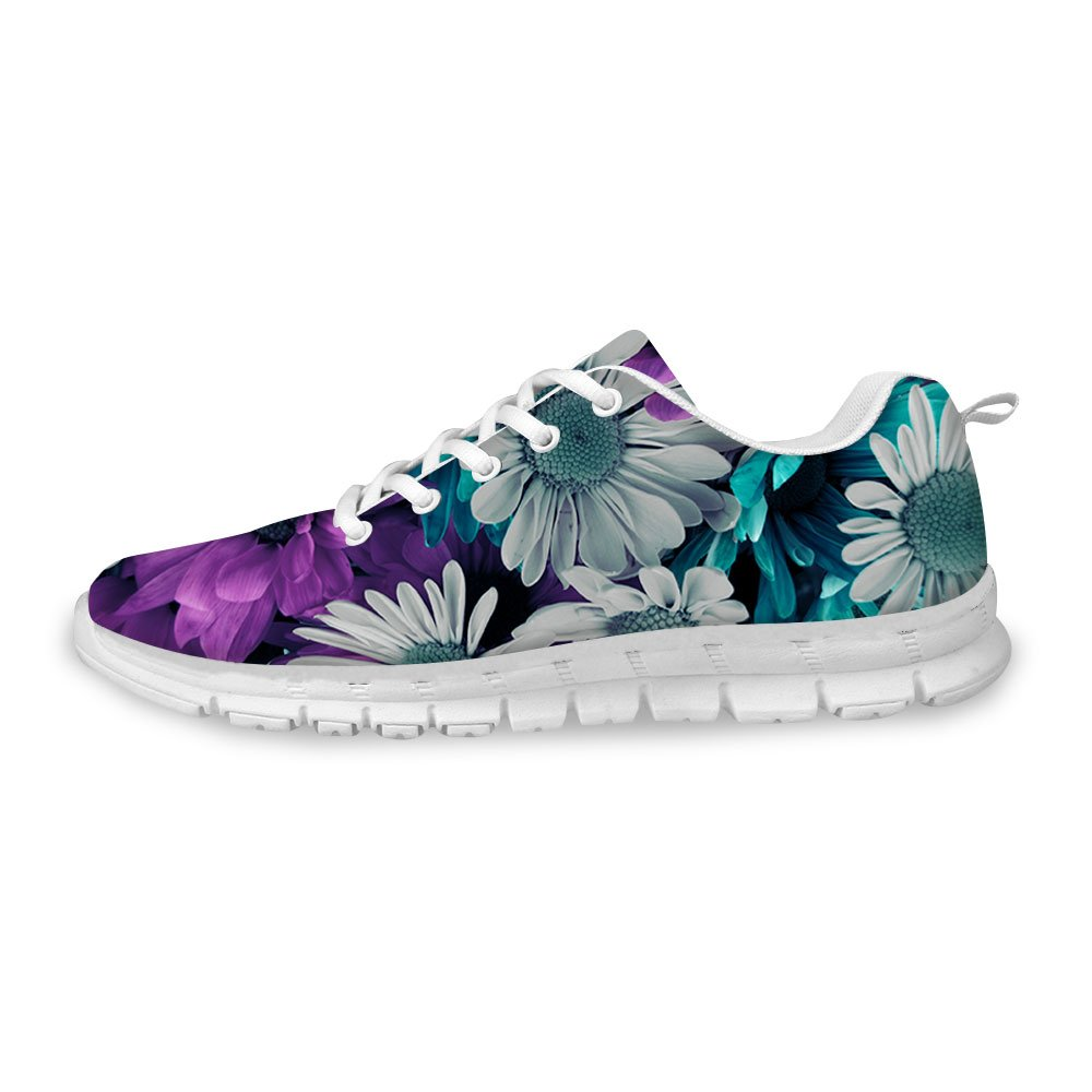 FOR U DESIGNS Retro Floral Style Go Easy Walking Casual Athletic Comfort Running Shoes US 9