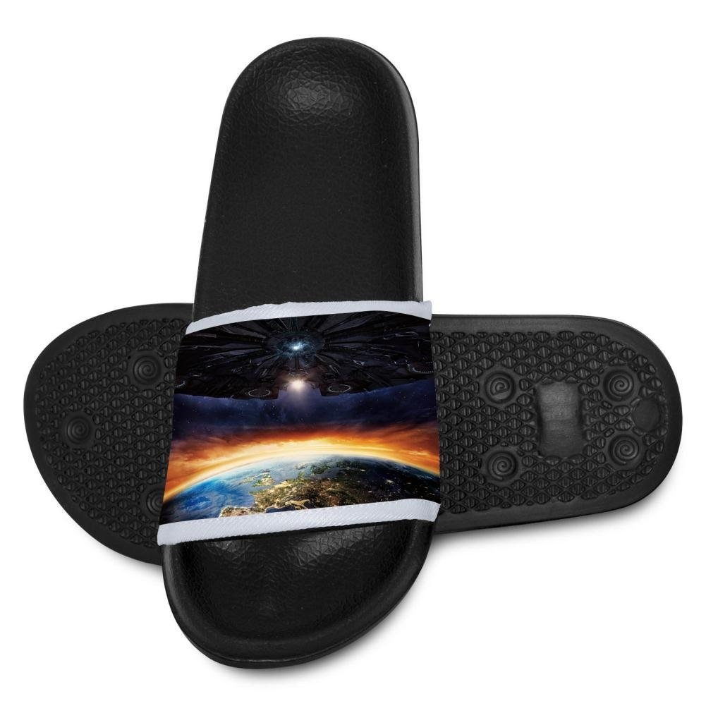 Fantasy Earth And UFO Slippers for Boy Girl Indoor Outdoor Casual Sandals Shoes