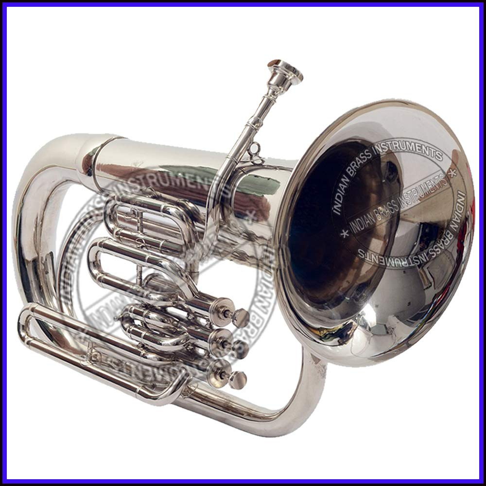 NASIR ALI NEW STUDENT MODEL EUPHONIUM FULL NICKEL LACQUER Bb PITCH WITH FREE CARRY BAG + MOUTH PIECE by NASIR ALI (Image #4)